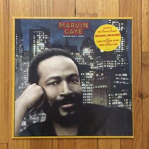 Marvin Gaye Midnight Love Vinyl Record